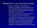 allowance for loan and lease losses10
