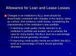 allowance for loan and lease losses12