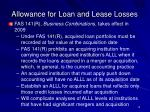 allowance for loan and lease losses13