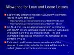 allowance for loan and lease losses4