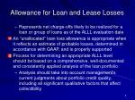 allowance for loan and lease losses5
