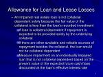 allowance for loan and lease losses7