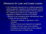 allowance for loan and lease losses8