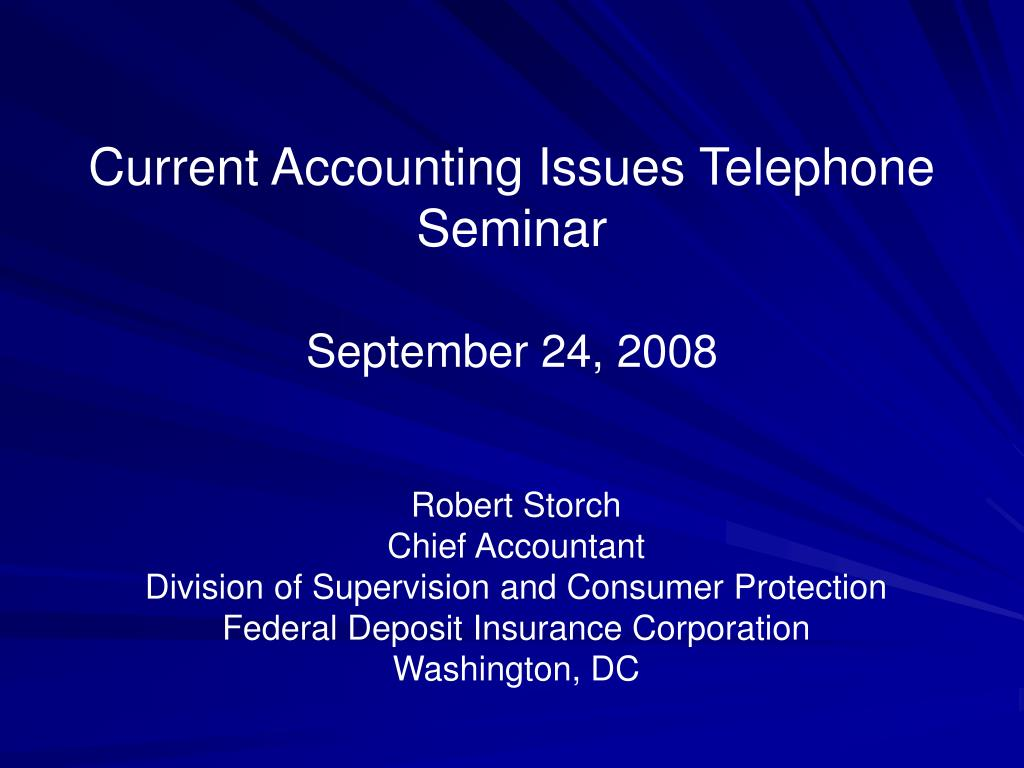 current accounting issues telephone seminar september 24 2008 l.