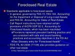 foreclosed real estate