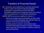 transfers of financial assets40