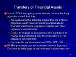 transfers of financial assets42