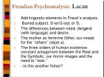 freudian psychoanalysis lacan