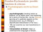 freudian psychoanalysis possible functions criticism5