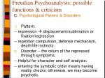 freudian psychoanalysis possible functions criticism6