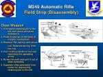 m249 automatic rifle field strip disassembly