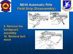 m249 automatic rifle field strip disassembly25