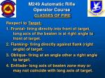m249 automatic rifle operator course classes of fire80