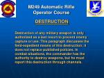 m249 automatic rifle operator course68