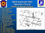m249 automatic rifle operators course external nomenclature