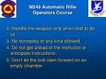 m249 automatic rifle operators course8