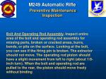 m249 automatic rifle preventive maintenance inspection58