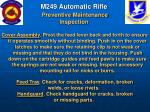 m249 automatic rifle preventive maintenance inspection60