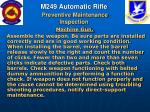 m249 automatic rifle preventive maintenance inspection62