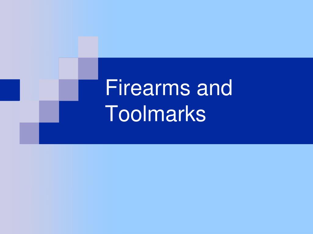 firearms and toolmarks l.