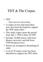 tdt the corpus