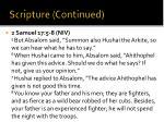scripture continued