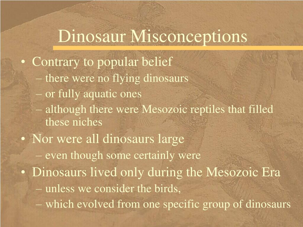 Dinosaur Misconceptions