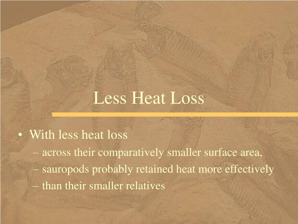 Less Heat Loss