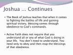joshua continues1
