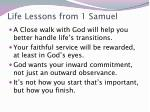 life lessons from 1 samuel