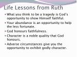 life lessons from ruth