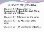 survey of joshua
