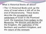 what is historical books all about