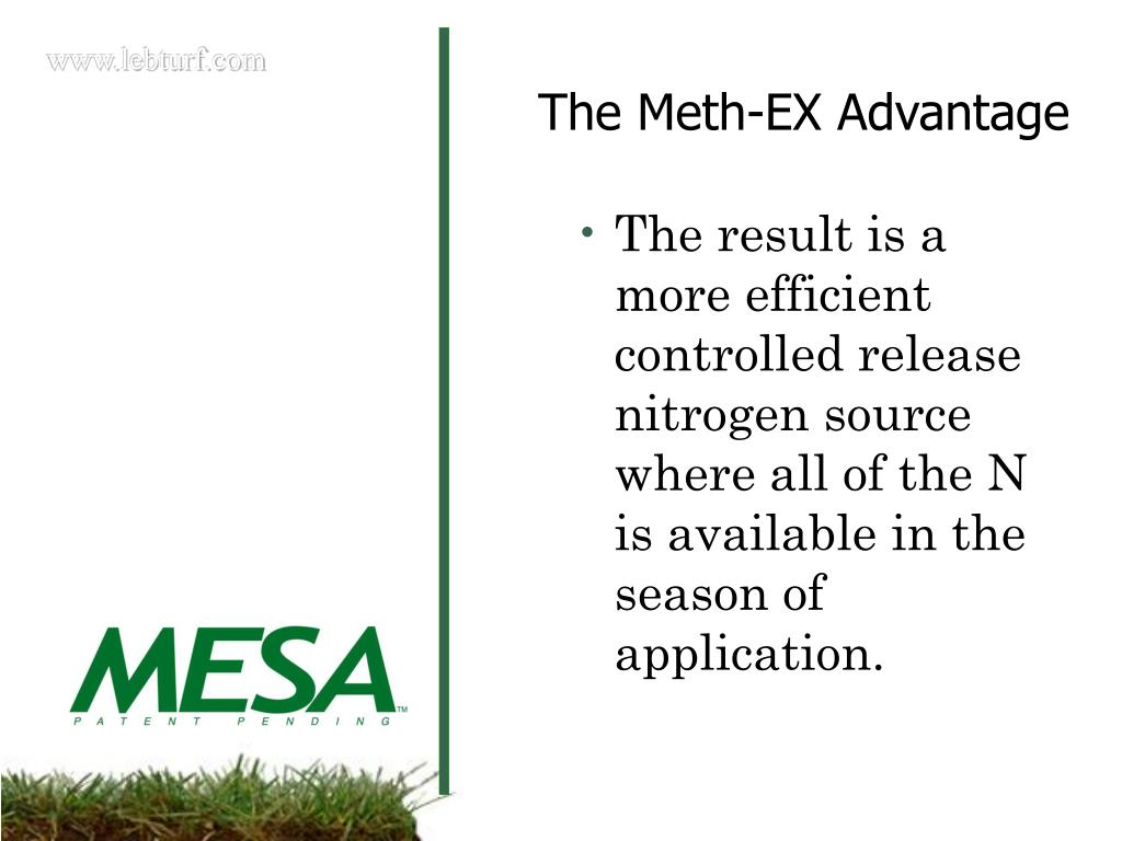 The result is a more efficient controlled release nitrogen source where all of the N is available in the season of application.