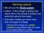 naming cations18