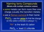 naming ionic compounds39