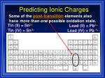 predicting ionic charges19