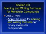 section 9 3 naming and writing formulas for molecular compounds43