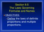 section 9 5 the laws governing formulas and names