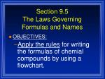 section 9 5 the laws governing formulas and names68