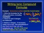 writing ionic compound formulas32