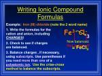 writing ionic compound formulas33