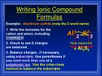 writing ionic compound formulas34