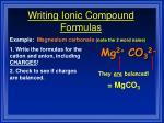 writing ionic compound formulas35