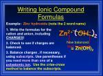 writing ionic compound formulas36