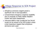 village response to scr project