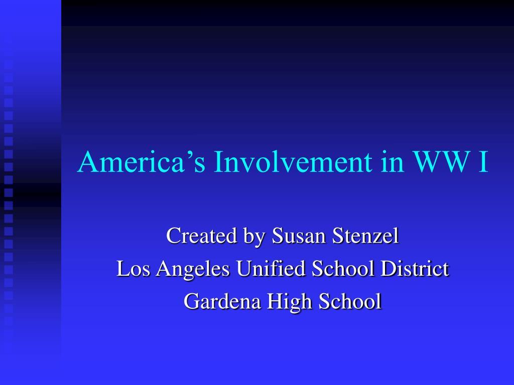 america s involvement in ww i l.