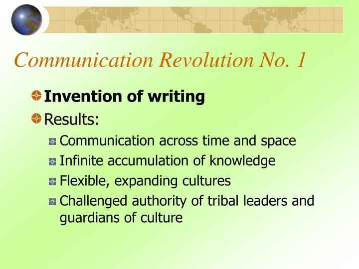 Communication revolution no 1