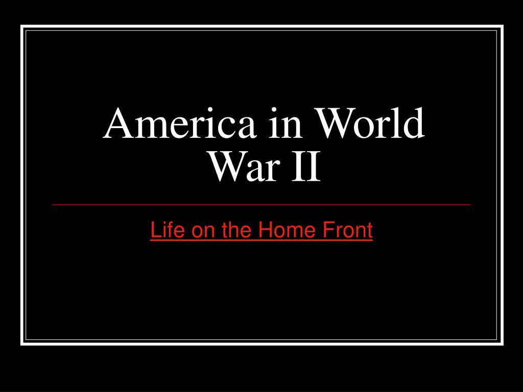 america in world war ii l.