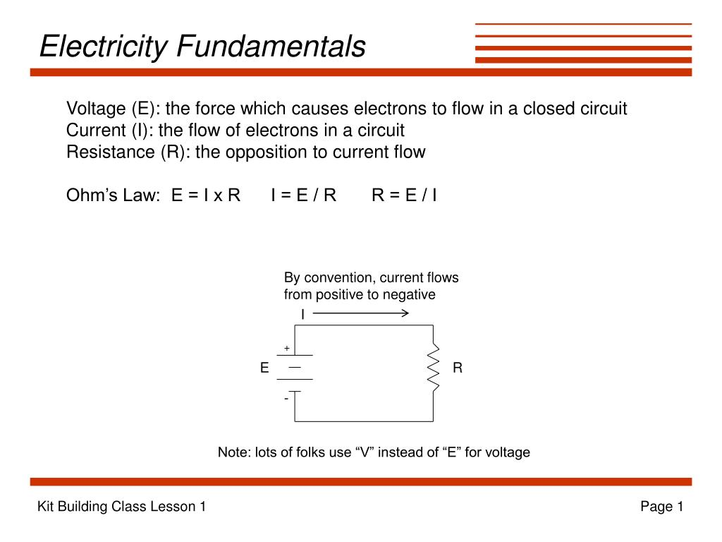 Ppt Electricity Fundamentals Powerpoint Presentation Id163000 Current Flow In A Circuit L
